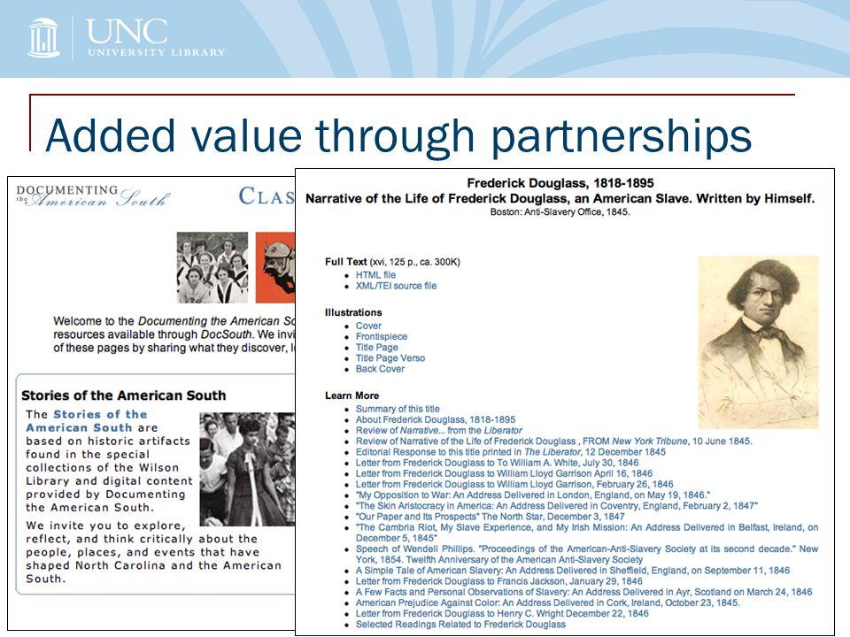 Added value through partnerships