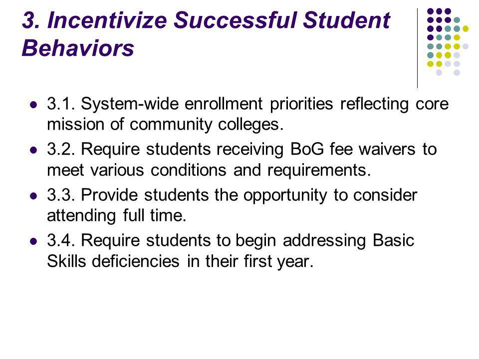 3. Incentivize Successful Student Behaviors 3.1.