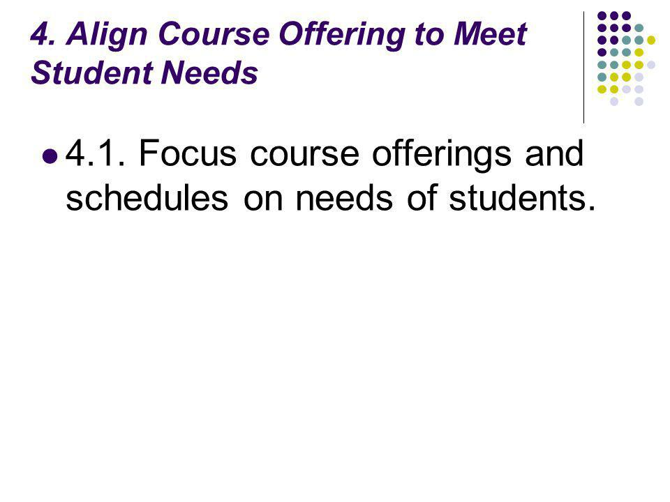 4. Align Course Offering to Meet Student Needs 4.1.