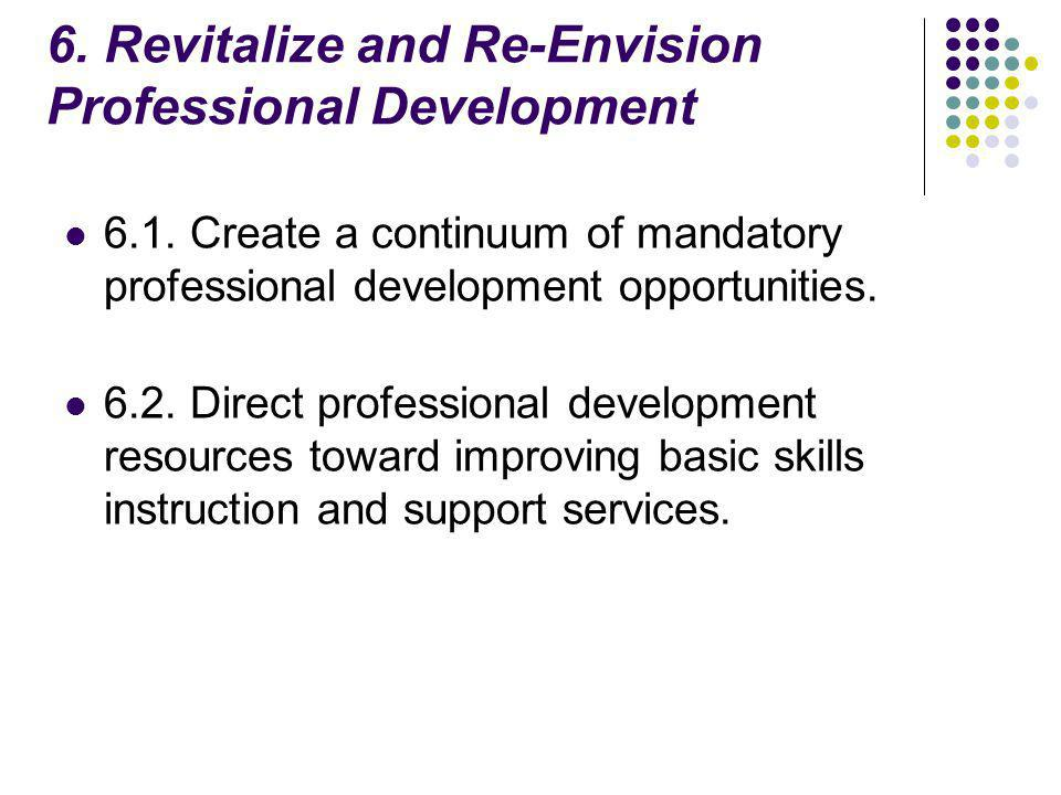 6. Revitalize and Re-Envision Professional Development 6.1.