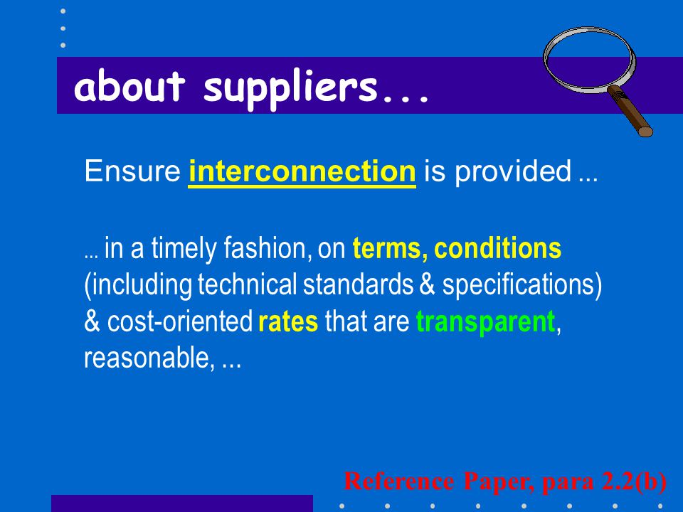 Ensure interconnection is provided......
