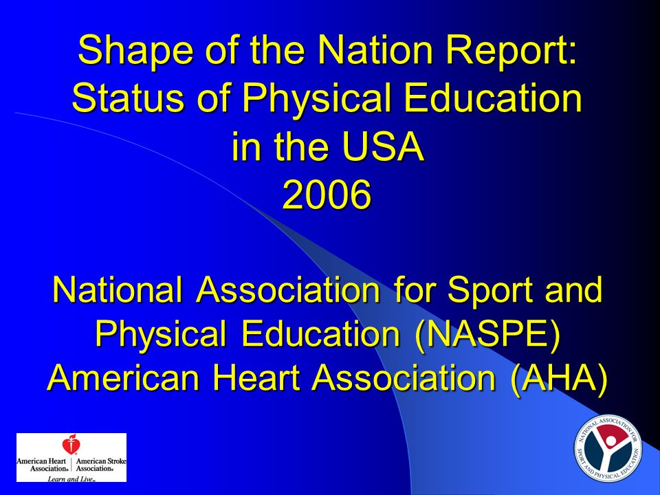 Successfully meeting minimum standards in PE is a requirement for high school graduation Required HS credits  0.5 credit – 8 states  1 credit – 14 states  1.5 credits – 6 states  2 credits – 6 states  3.75 credits – 1 state Graduation test  16 states have one  None include physical education