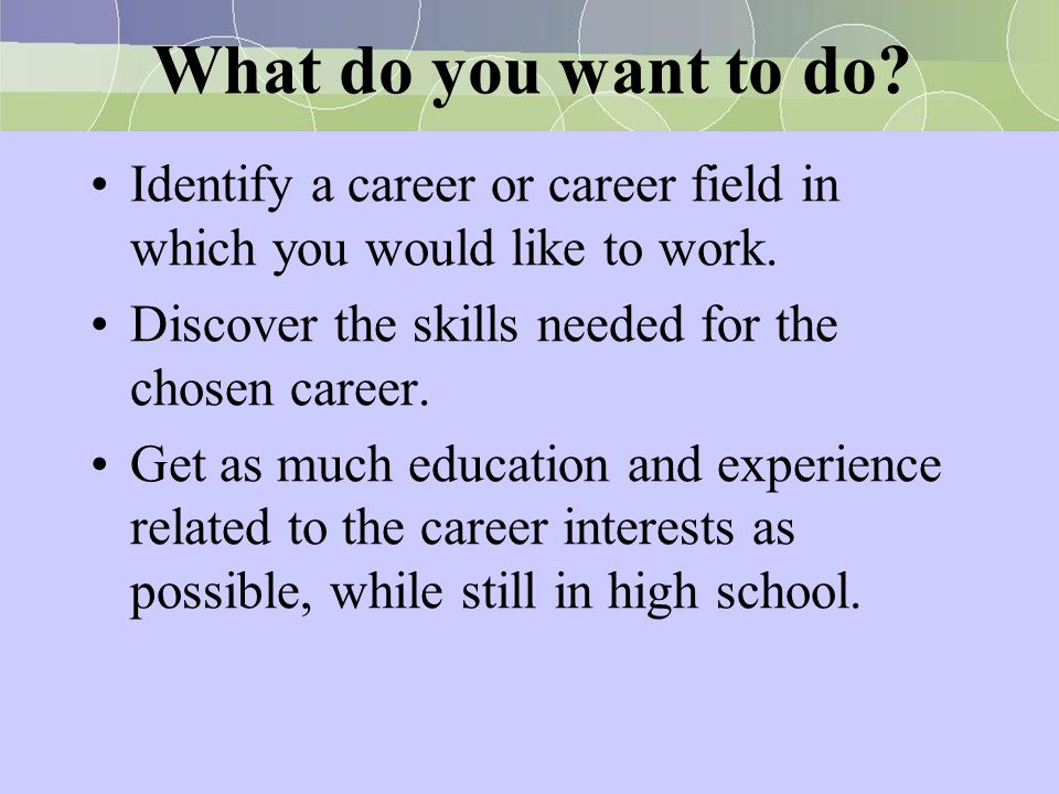 What should I do as a career?