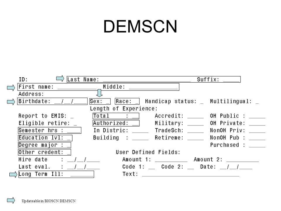 DEMSCN Updateable in BIOSCN/DEMSCN