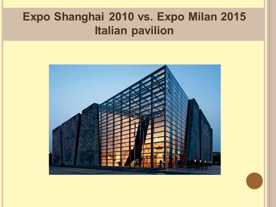 Expo Shanghai 2010 vs. Expo Milan 2015 Italian pavilion