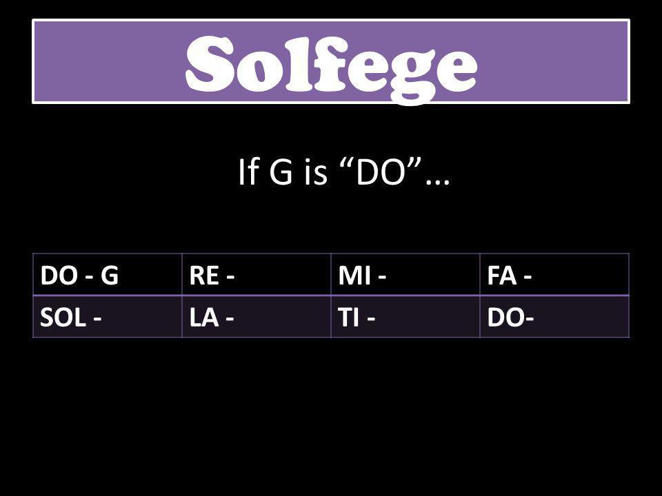 """DO - GRE -MI -FA - SOL -LA -TI -DO- Solfege If G is """"DO""""…"""