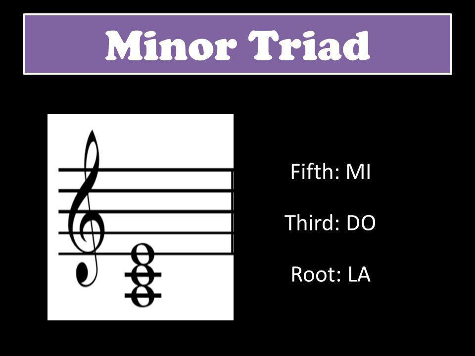 Minor Triad Root: LA Third: DO Fifth: MI
