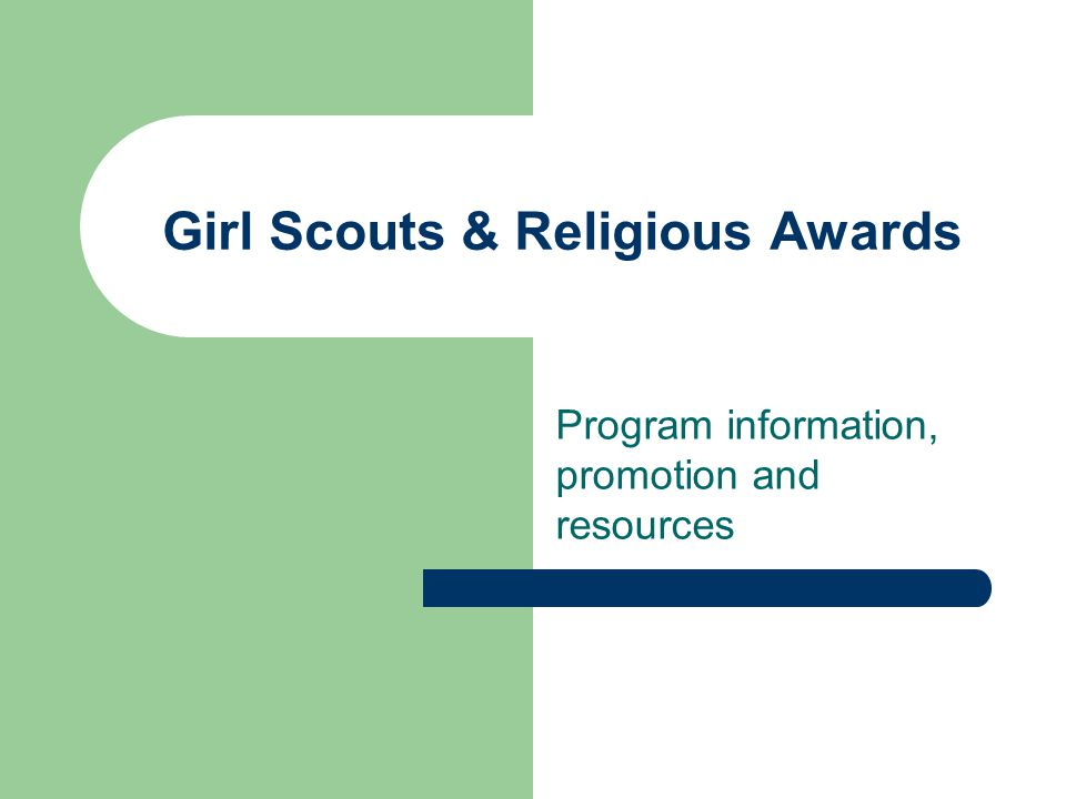 Girl Scouts & Religious Awards Program information, promotion and resources