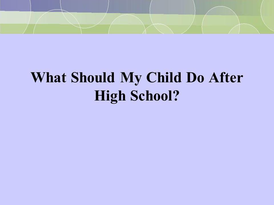 What Should My Child Do After High School?