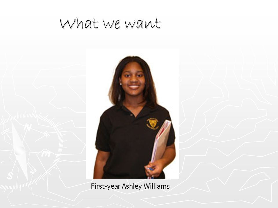 What we want First-year Ashley Williams