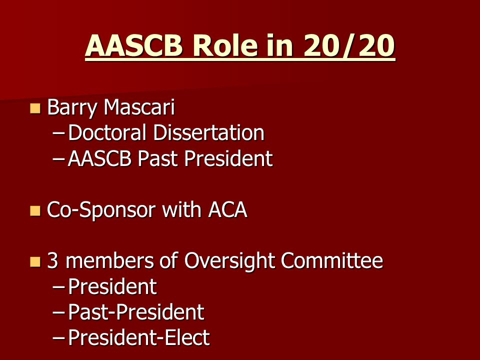 Subcommittees/ Task Groups: Title – chaired by Dr.