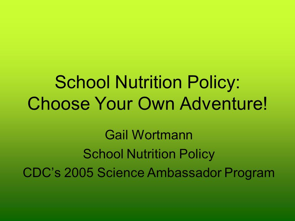 Instructions You are to assume your chosen school health policy has been implemented.