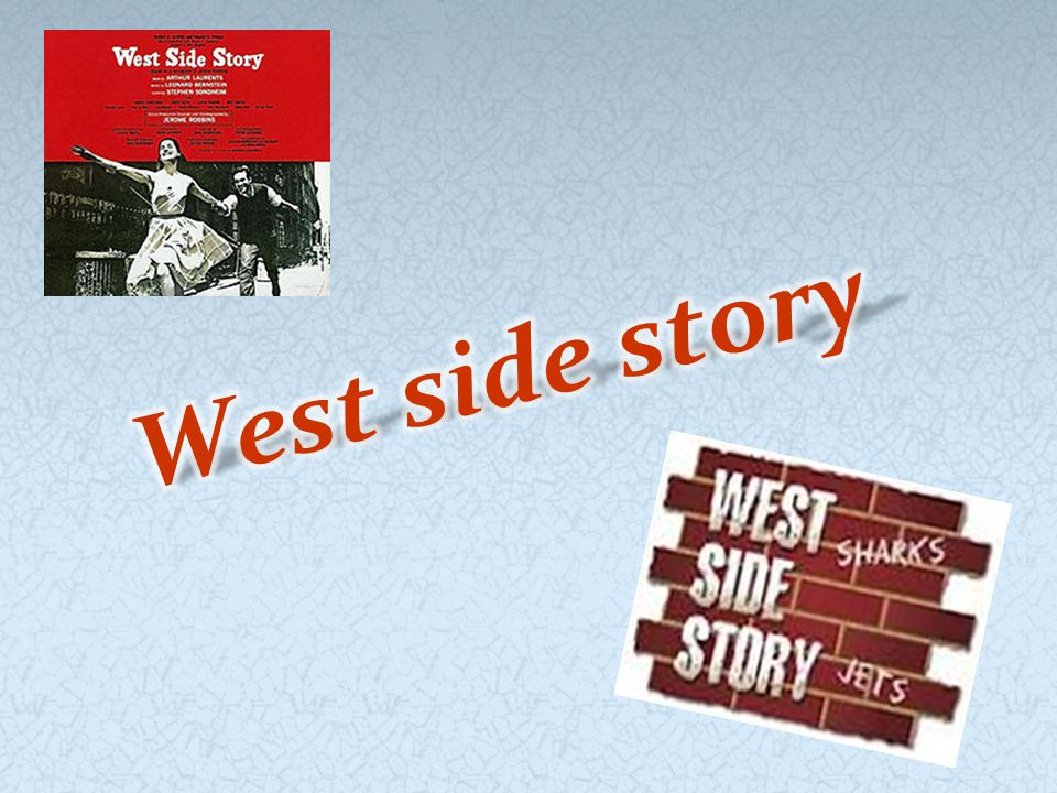 West Side Story is an American musical inspired by William Shakespeare s play Romeo and Juliet.The musical explores the rivalry between the Jets and the Sharks, two teenage street gangs of different ethnic backgrounds.