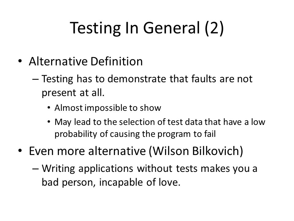 Unit Testing in Rails In rails, unit testing is geared towards testing of individual functions created in a model For each model generated, a test file is automatically created in tests/unit directory script/generate model product name:string description:string exists app/models/ exists test/unit/ exists test/fixtures/ create app/models/product.rb create test/unit/product_test.rb ….