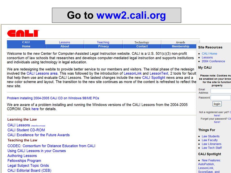 Go to www2.cali.org