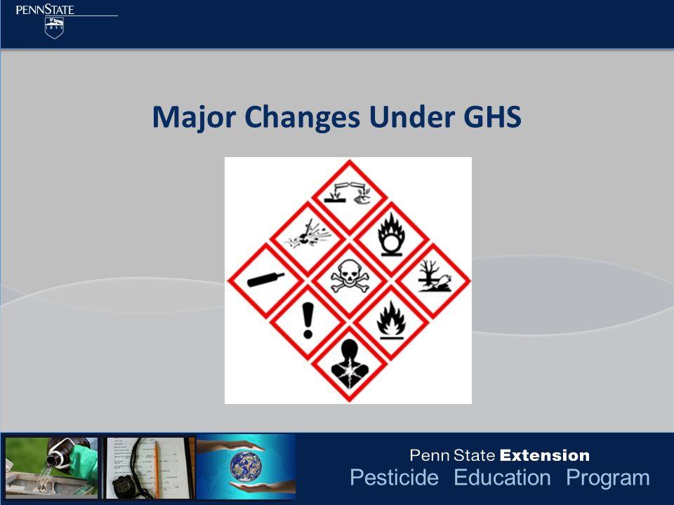 Pesticide Education Program Major Changes Under GHS