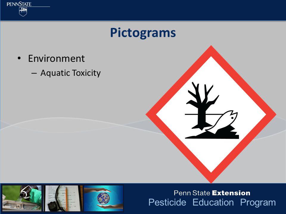 Pesticide Education Program Pictograms Environment – Aquatic Toxicity