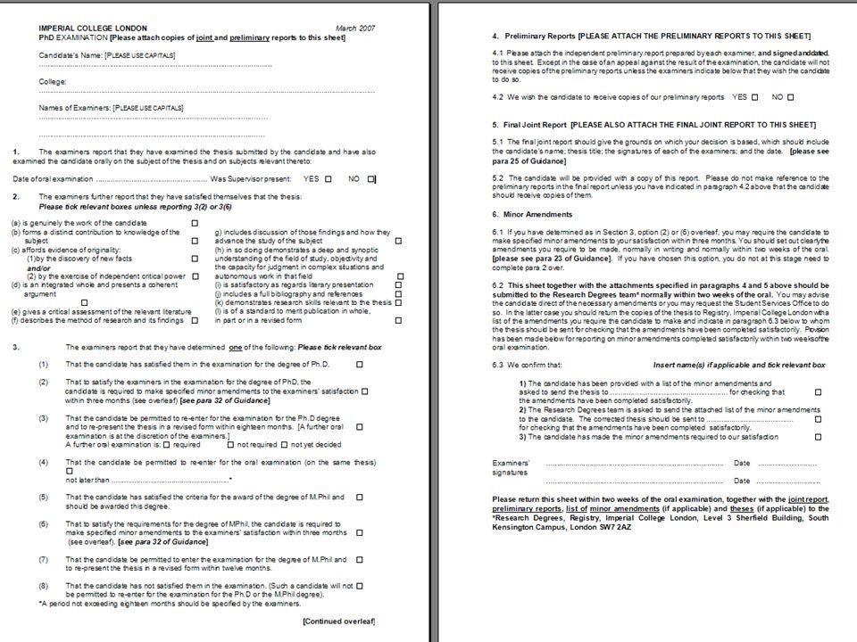Examination Results