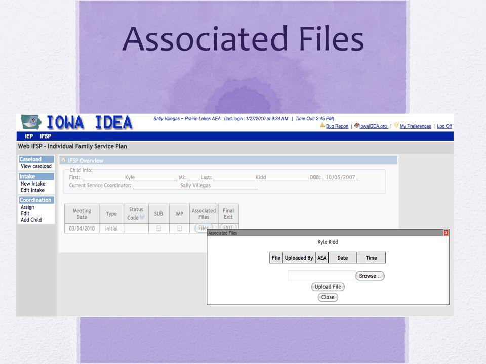 Associated Files
