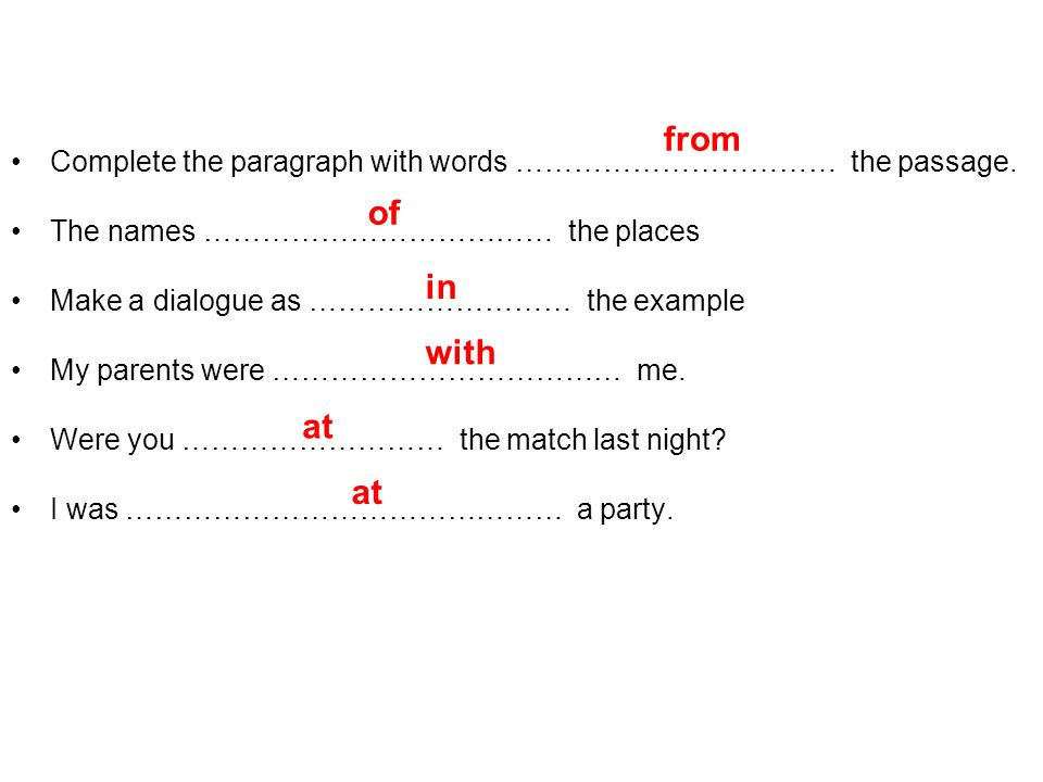 Complete the paragraph with words …………………………… the passage.
