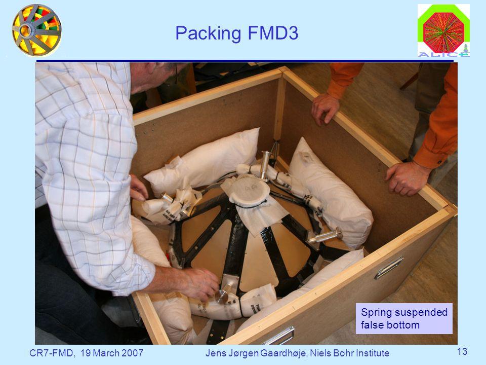 CR7-FMD, 19 March 2007Jens Jørgen Gaardhøje, Niels Bohr Institute 13 Packing FMD3 Spring suspended false bottom