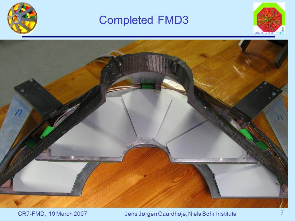 CR7-FMD, 19 March 2007Jens Jørgen Gaardhøje, Niels Bohr Institute 7 Completed FMD3