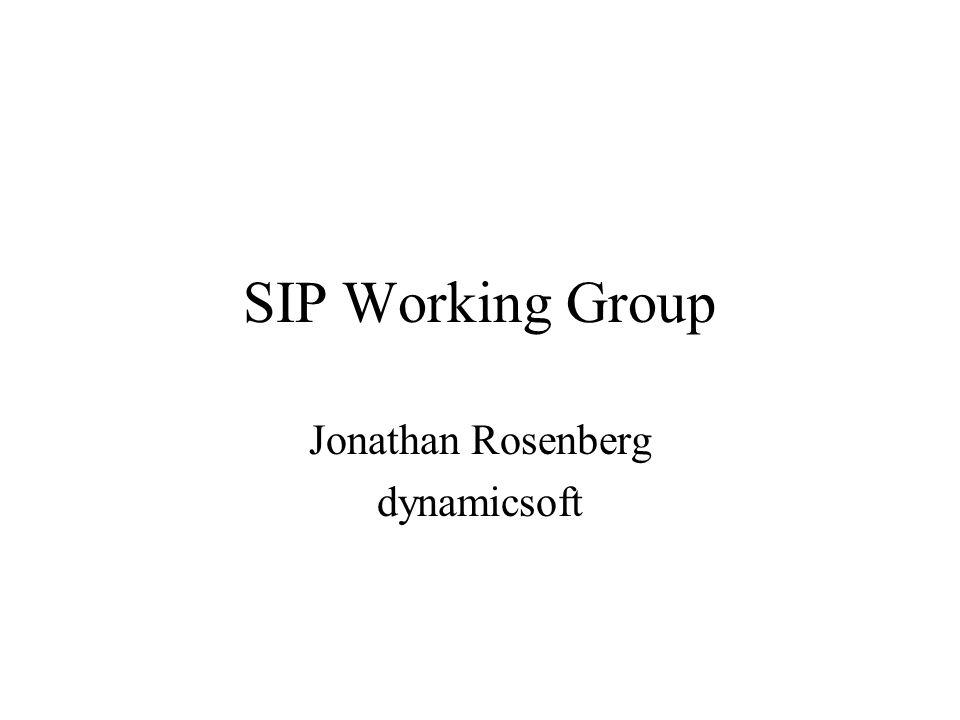 SIP Working Group Jonathan Rosenberg dynamicsoft