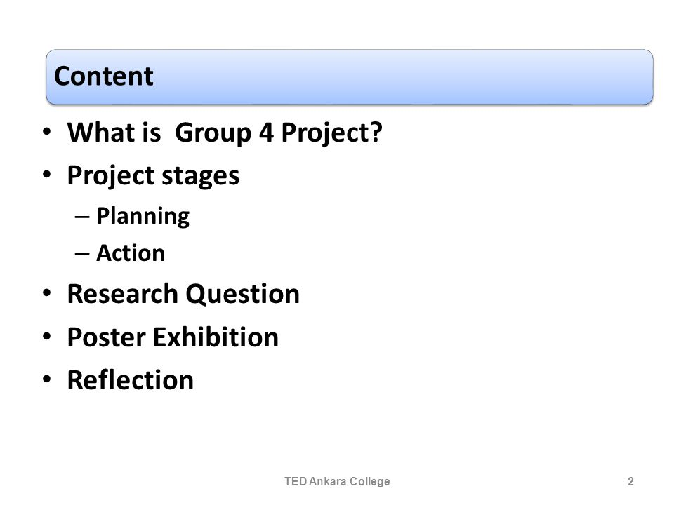 What is Group 4 Project.