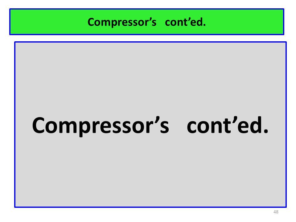 Compressor's cont'ed. 48