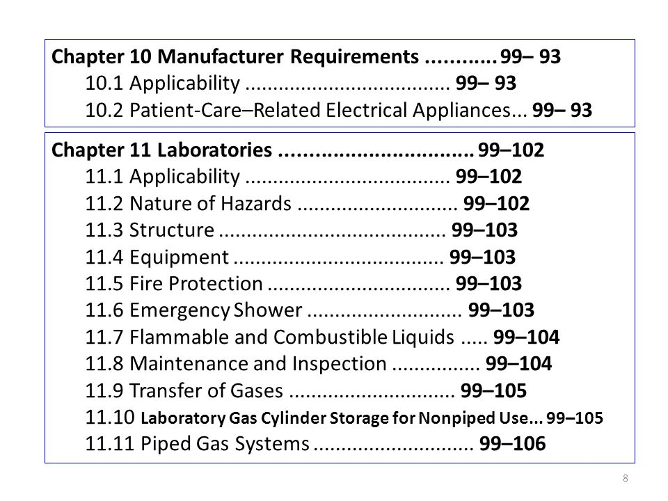 Chapter 10 Manufacturer Requirements............ 99– 93 10.1 Applicability..................................... 99– 93 10.2 Patient-Care–Related Elect