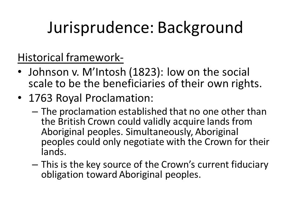 Part c) Proof of Aboriginal Title iii) At sovereignty, that occupation must have been exclusive.