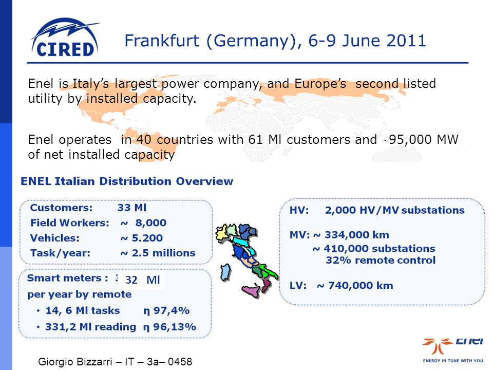 Frankfurt (Germany), 6-9 June 2011 … and on the field we started with the Workforce Management Project in the 2005 Work in progress...
