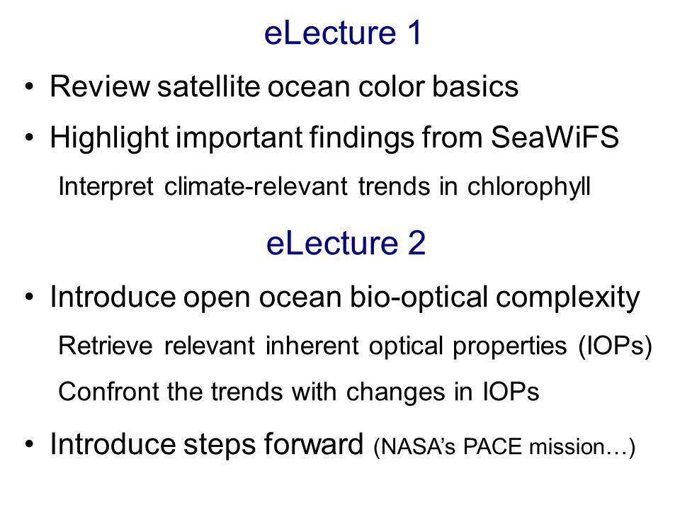 Global Chlorophyll http://oceancolor.gsfc.nasa.gov/SeaWiFS/HTML/SeaWiFS.BiosphereAnimation.html
