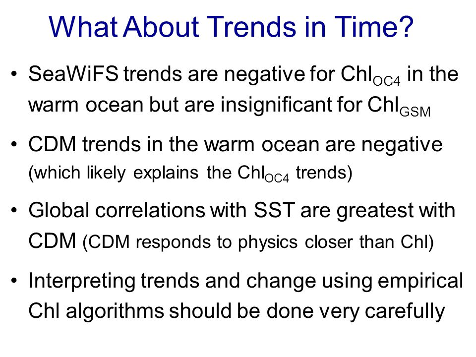 What About Trends in Time.