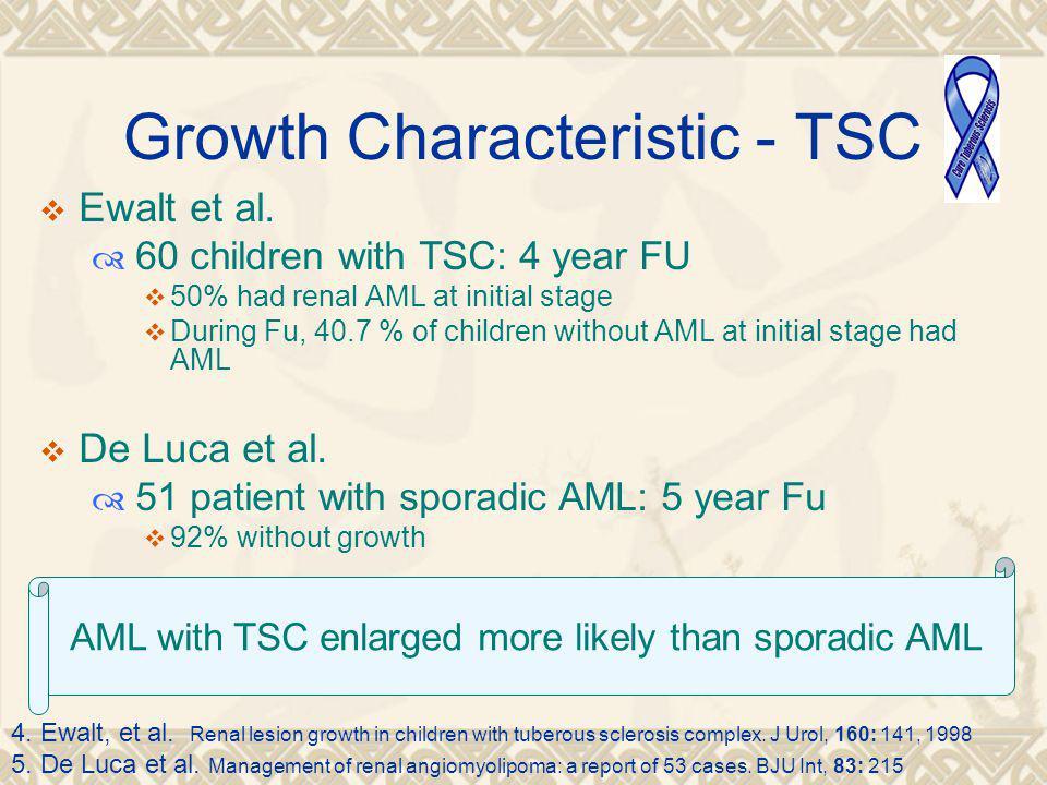 Growth Characteristic - TSC  Ewalt et al.