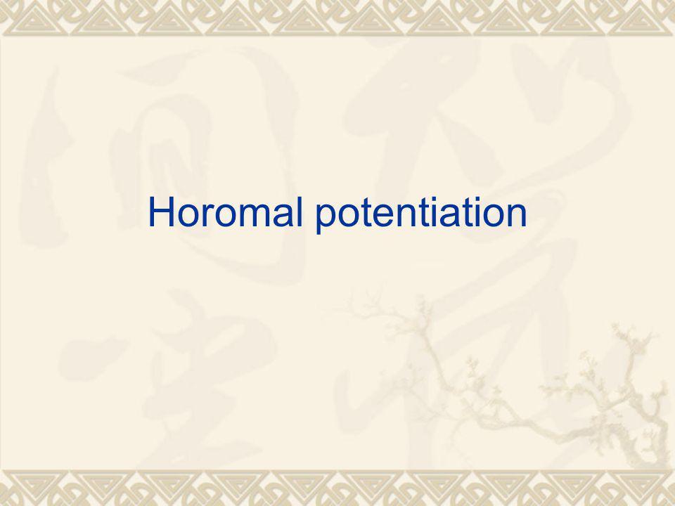 Horomal potentiation