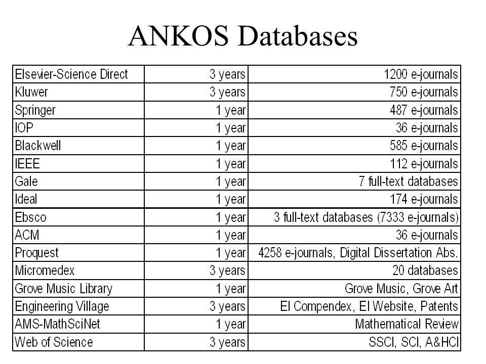 ANKOS Databases