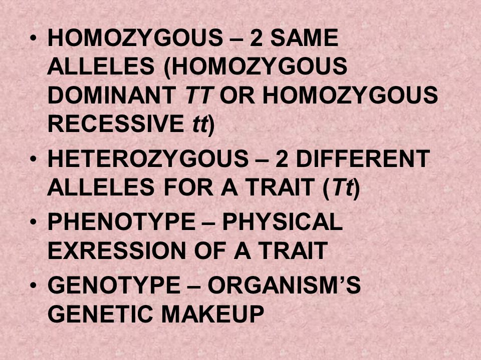 TESTCROSS TO DETERMINE IF THE ORGANISM IS HOMOZYGOUS DOMINANT OR HETEROZYGOUS TESTCROSS WITH A RECESSIVE ORGANISM