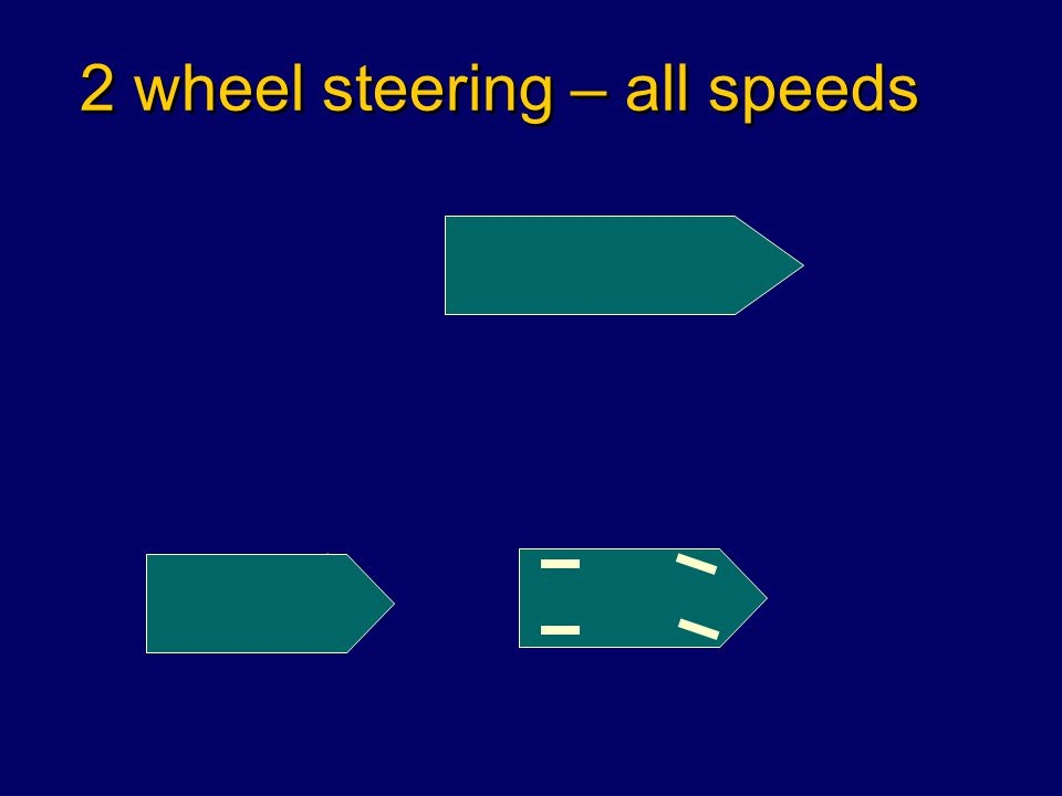 2 wheel steering – all speeds