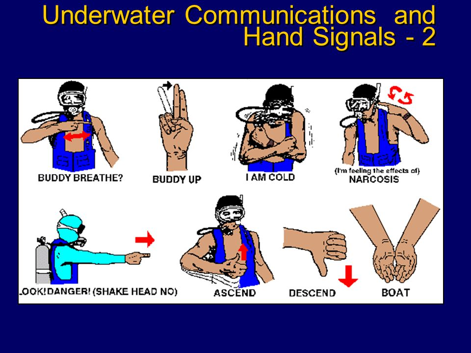 Underwater Communications and Hand Signals - 1