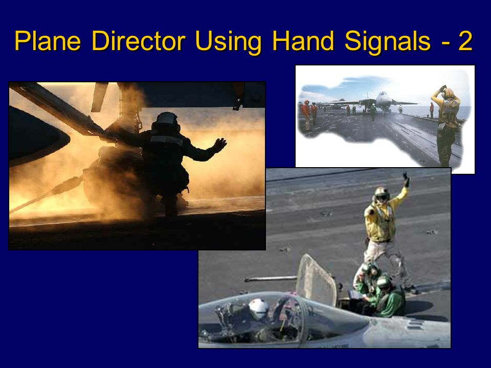 Plane Director Uses Hand Signals to Give Directions to Pilots - 1