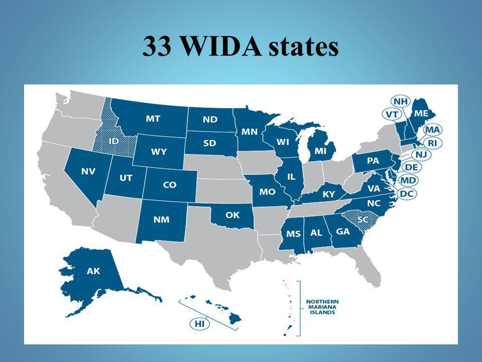 33 WIDA states