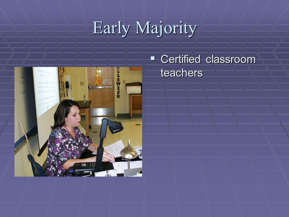 Early Majority  Certified classroom teachers