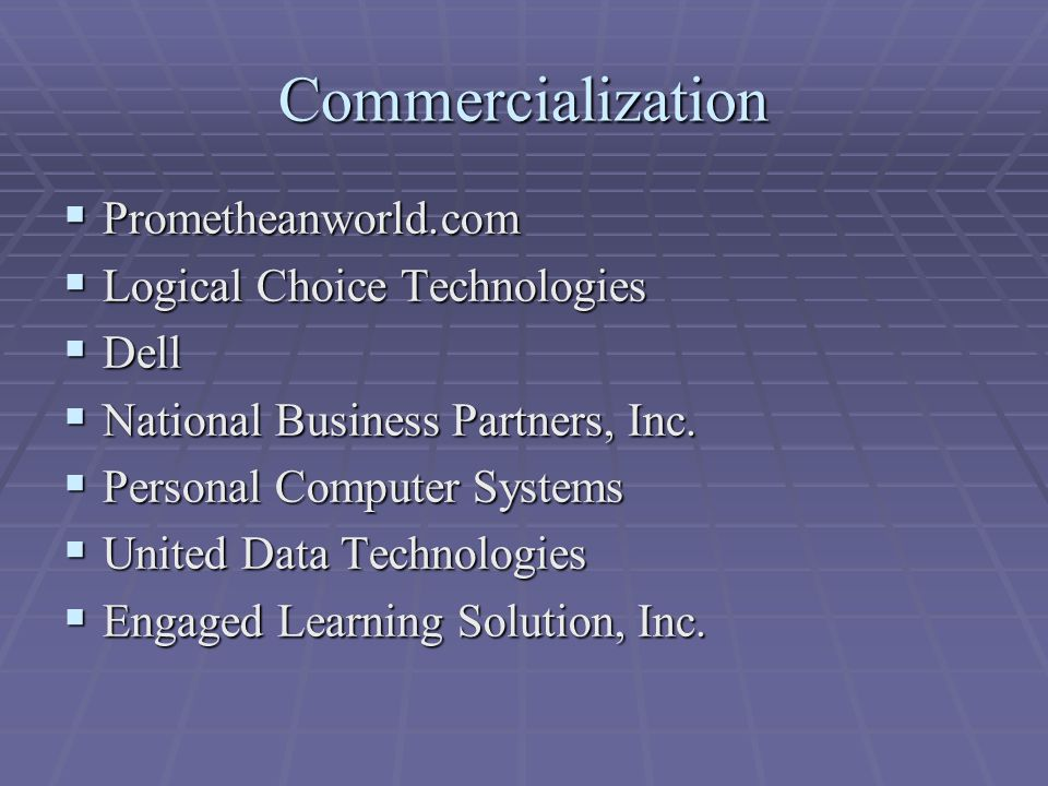 Commercialization  Prometheanworld.com  Logical Choice Technologies  Dell  National Business Partners, Inc.