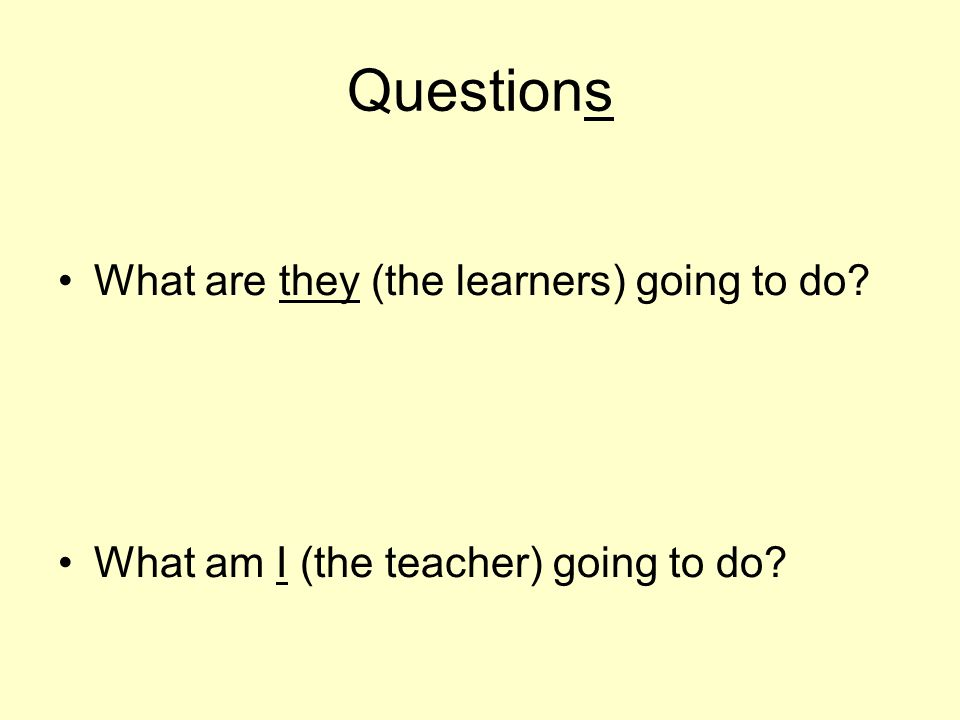 What do we learn/develop.