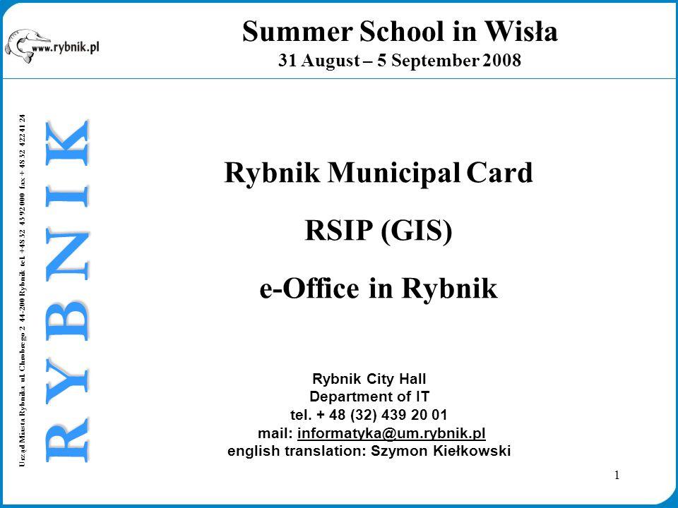 1 Urząd Miasta Rybnika ul. Chrobrego 2 44-200 Rybnik tel.