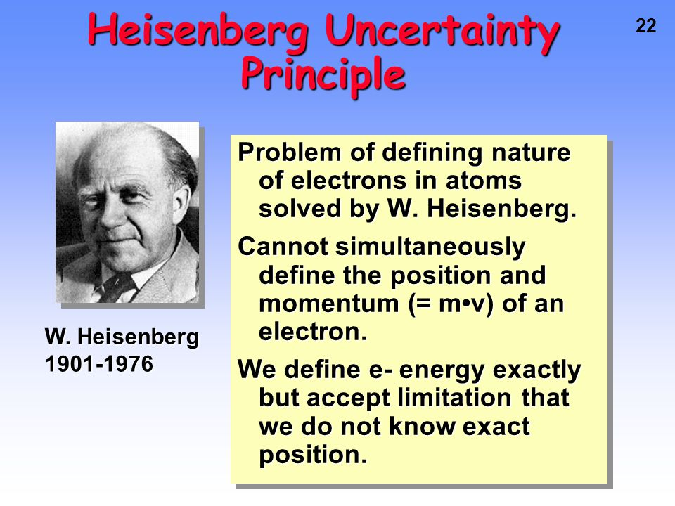 21 Schrodinger applied idea of e- behaving as a wave to the problem of electrons in atoms.