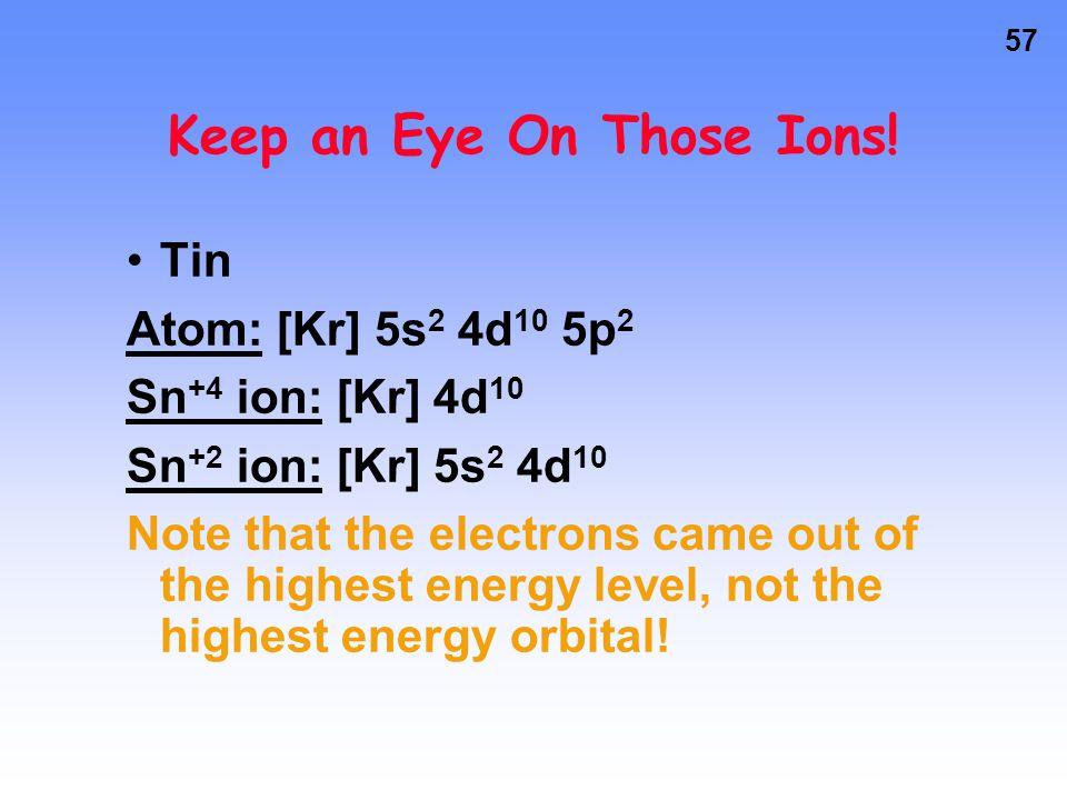 56 Keep an Eye On Those Ions.