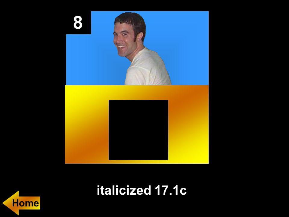 8 italicized 17.1c