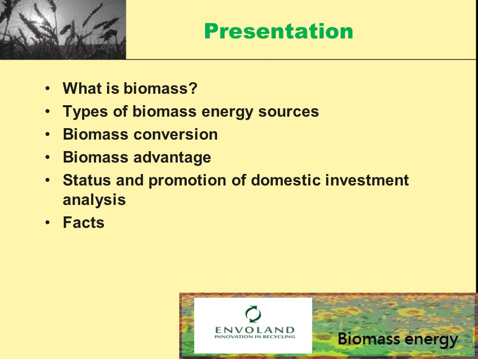 Presentation What is biomass.